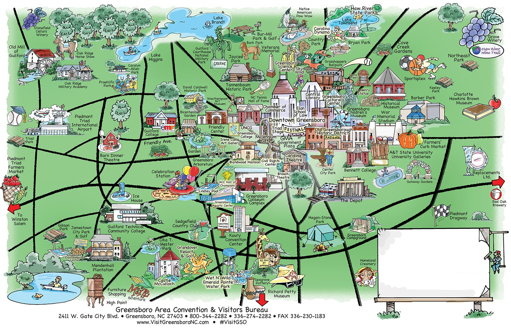 Explore Greensboro Map