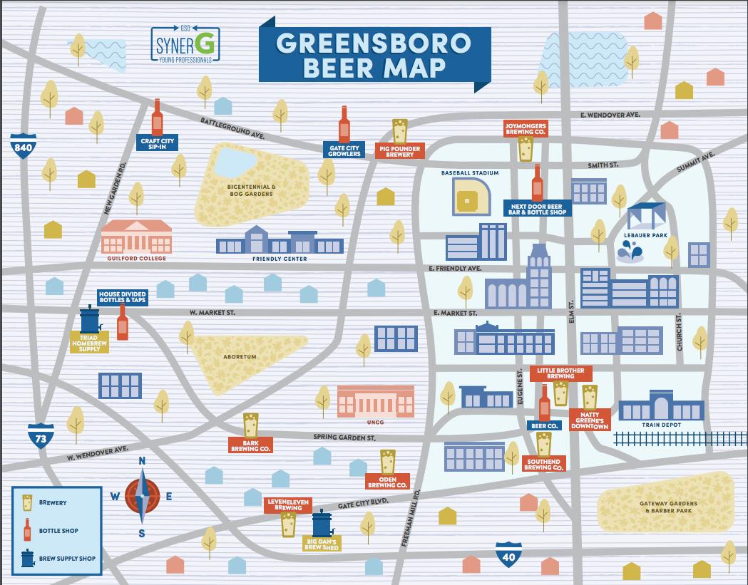 Greensboro Beer Map - SynerG